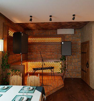Кафе У Мангала - Зал на первом этаже
